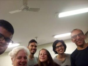 Monitores Roza, Felipe e Pedro e alunos OUTUBRO 2019